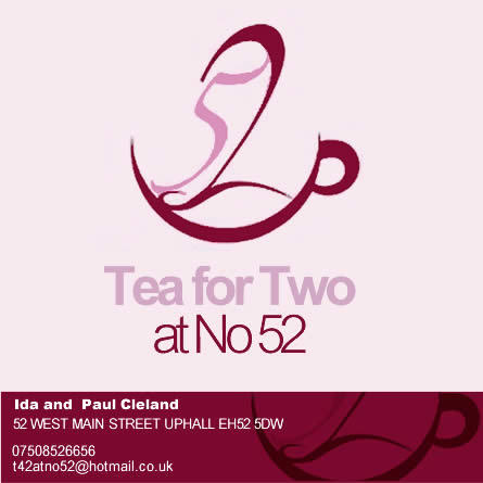 Tea for Two at No 52 | Cafe and Coffee Shop | Uphall
